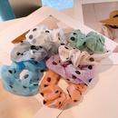 Korean dots transparent yarn folds hair scrunchies NHHD336090