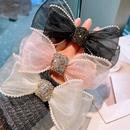 Korean organza yarn bow hairpin NHHD336103