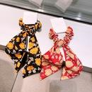 Korean floral bow ribbon headband NHHD336106