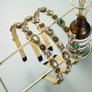 Baroque pearl flower headband NHLN336160