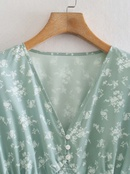 Fashion shortsleeved printed dress NHAM336132