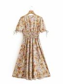 Fashion print long dress wholesale NHAM336135