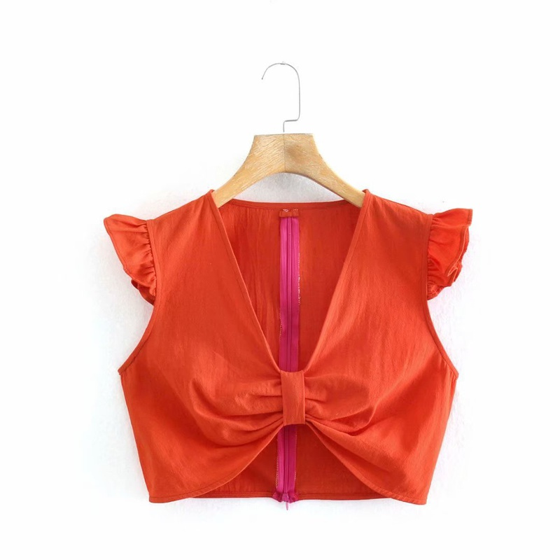 Fashion Vneck bow vest wholesale NHAM336137