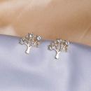 Diamond leaf pearl earrings NHQC336156