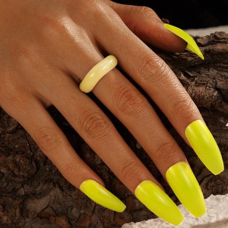 anillo de resina creativa de moda NHGY336155's discount tags