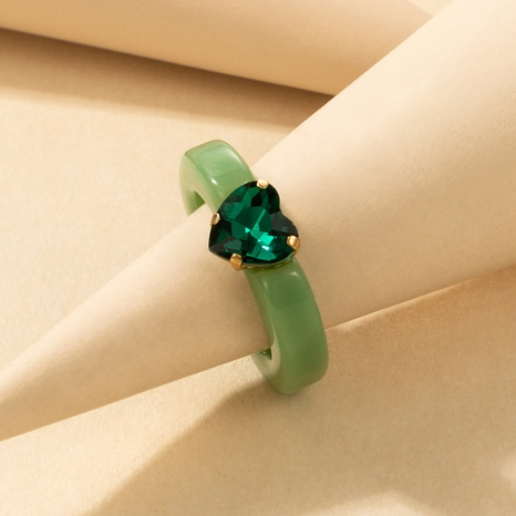 fashion creative diamond multicolor resin ring NHGY336150's discount tags