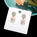 simple flower rhinestone earrings NHQC336144