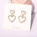 fashion diamond pearl love earrings  NHQC336140