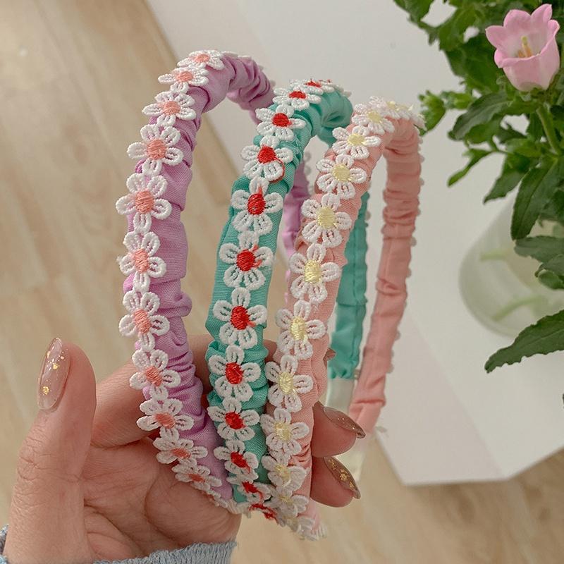 Korean candy color flower hair band  NHCQ336215