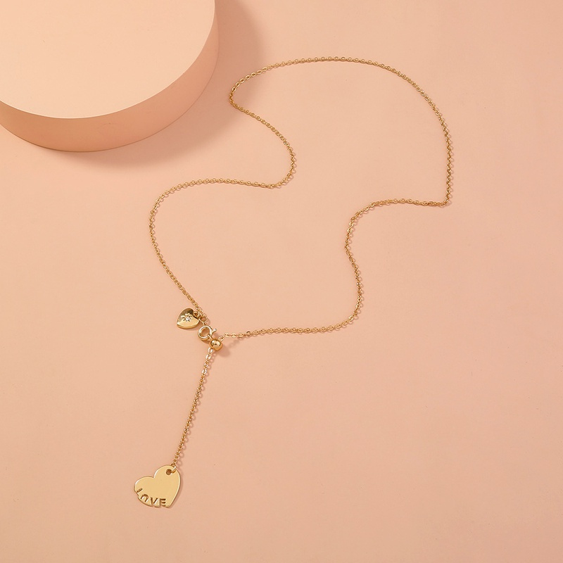 Korea heartshape alloy necklace wholesale NHAN336218