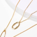Fashion gold shaped multilayer alloy necklace wholesale NHAN336220