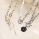 Retro short thick chain threelayer necklace NHPF336233