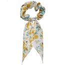 Fashion chiffon floral knotted hair scrunchies wholesale NHPJ336238