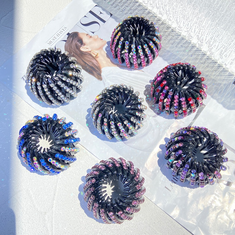 Fashion rhinestone geometric hair device wholesale NHPJ336235