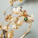 fashion leaf pearl cross multilayer headband  NHLN336246