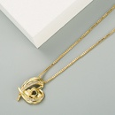 Fashion angel wings heartshape copper inlaid zircon necklace wholesale NHLN336249
