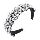 fashion glass diamond flower headband NHLN336256