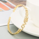Simple LOVE letters copper microinlaid zircon bracelet NHLN336259