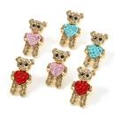 Korean alloy diamond acrylic bear earrings  NHJE336262