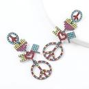 fashion alloy diamondstudded letter earrings NHJE336265