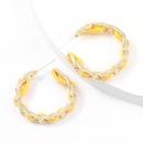 fashion chain Cshaped alloy earrings  NHJE336267