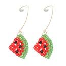 fashion woven watermelon acrylic earring  NHJE336272