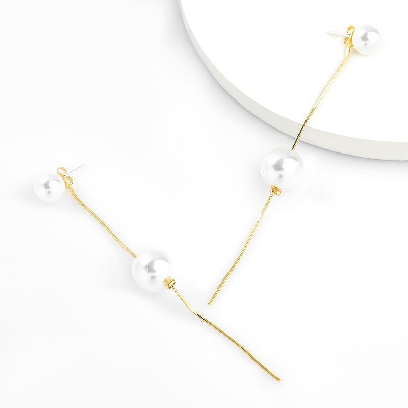Fashion alloy imitation pearl earrings NHJE336275