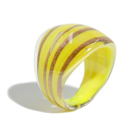 fashion golden texture colored glaze ring  NHJQ336279's discount tags