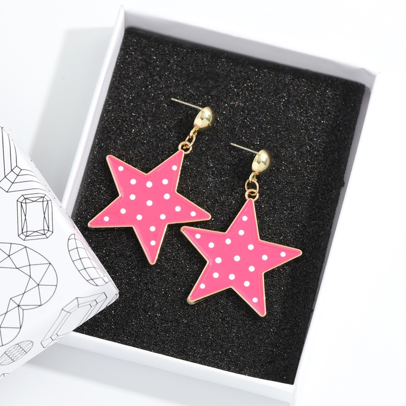 Fashion fivepointed star pendant earring NHJQ336287