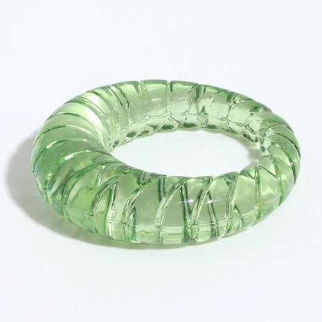 Retro transparent solid color resin ring  NHJQ336289's discount tags