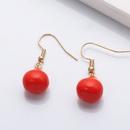 Korean Red Pear Fruit Earring Wholesale NHJJ336296