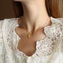 Fashion elephant titanium steel necklace wholesale NHOK336305
