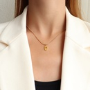 Fashion lucky 7 titanium steel necklace wholesale NHOK336307