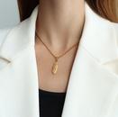 Fashion Queen Jesus oval titanium steel necklace wholesale NHOK336314