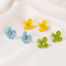 Korean flower alloy earrings wholesale NHDP336316
