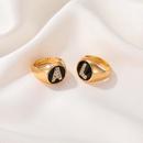 fashion zircon letter open ring  NHDP336317
