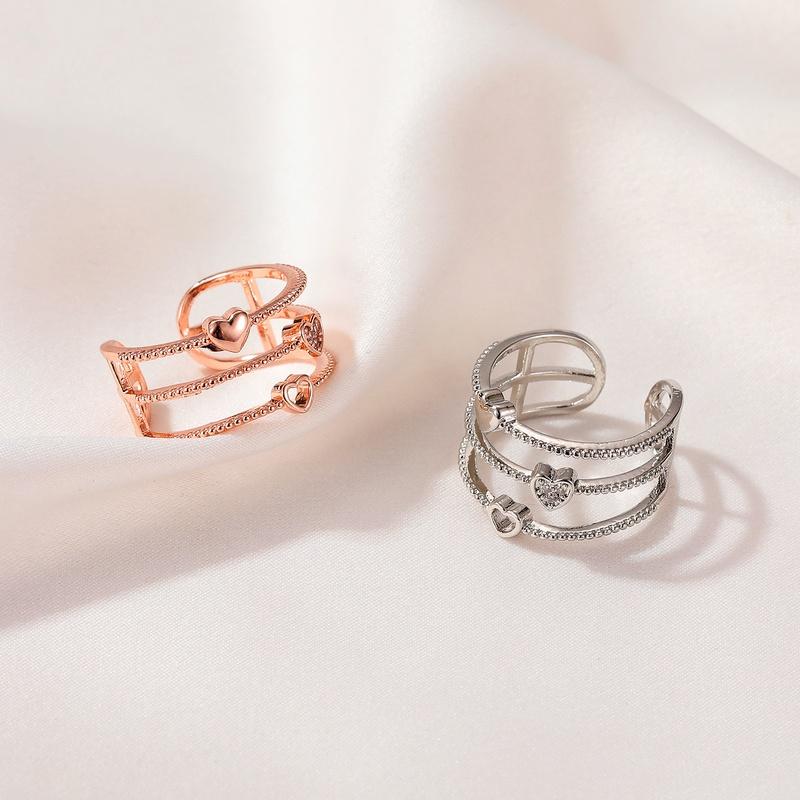 Korean hollow heart open ring    NHDP336318