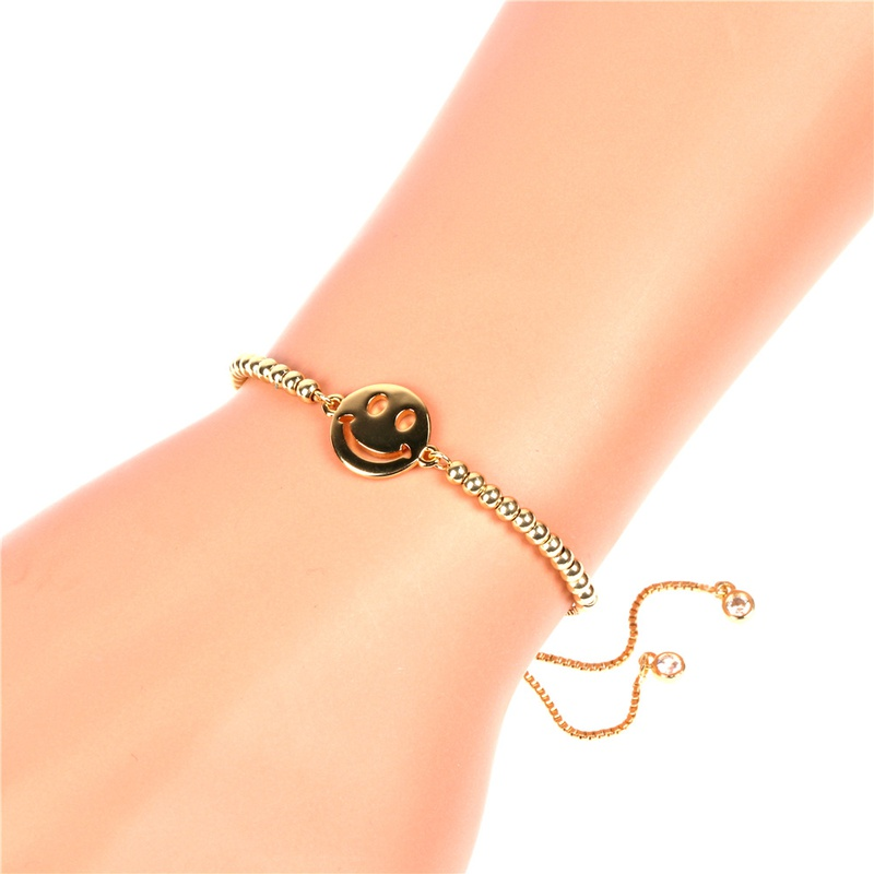 Bracelet en zircon microincrust de cuivre Emoji Smiley Fashion NHPY336366
