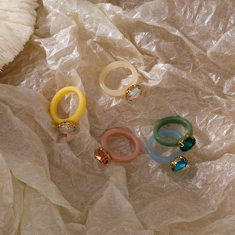Anillo de piedras preciosas acrílicas coreanas NHMS336368's discount tags