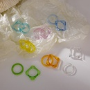 fashion color square acrylic ring  NHMS336369