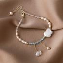 Fashion pearl butterfly alloy bracelet wholesale NHMS336375