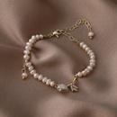 Fashion Leaf Pearl Alloy Bracelet Wholesale NHMS336377