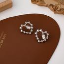 Boucles d39oreilles en alliage strass en forme de coeur NHMS336379