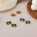 Cute color bear resin earrings wholesale NHMS336381