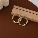 Korean geometric twist alloy earrings wholesale NHMS336382