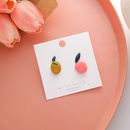 Fashion dripping oil contrast color fruit earrings NHMS336387