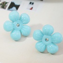 fashion candy color resin flower earrings NHNZ336396