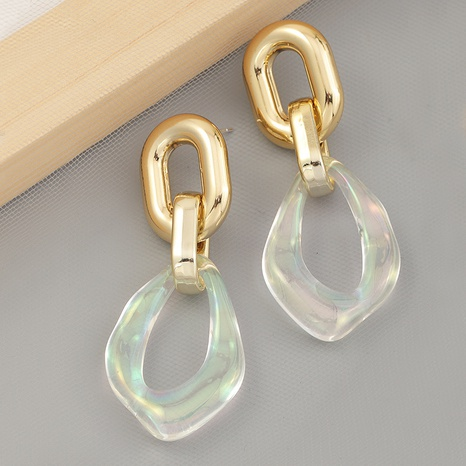 fashion transparent special-shaped resin earrings NHNZ336393's discount tags