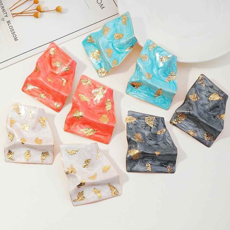 fashion irregular bump alloy dripping earrings NHNZ336397