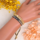 Hip hop Miyuki bead handmade woven rivet diamond bracelet NHGW336404